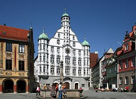 The Renaissance town hall of Memmingen.