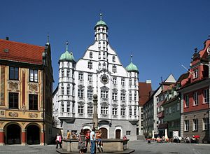 Memmingen - The Renaissance town hall of Memmingen.