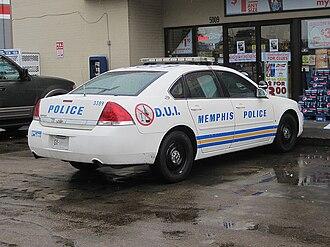 Memphis Police Department - MPD D.U.I. Unit vehicle