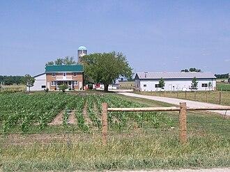 Wellesley, Ontario - Typical Mennonite farm near Linwood