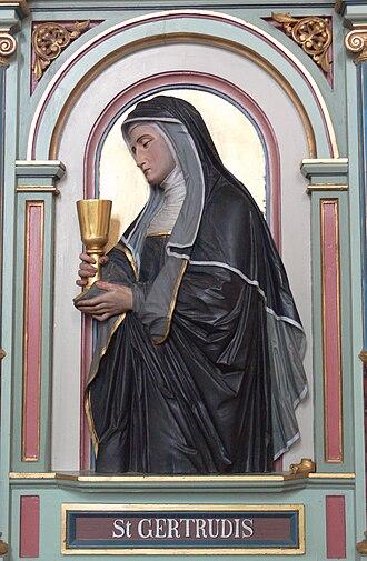 Gertrude the Great - Gertrud von Helfta, Merazhofen Pfarrkirche Chorgestühl