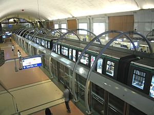 Paris Métro Line 14 - MP 89CA stock train at Châtelet