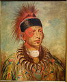 Mew-Hew-She-Kaw, The White Cloud, Chief of the Ioways, by George Catlin, undated, oil on canvas - New Britain Museum of American Art - DSC09164.JPG
