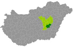 mezőtúr térkép Kreis Mezőtúr – Wikipedia