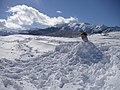 Mi hijo entrerrado en nieve, El Robledal - panoramio.jpg