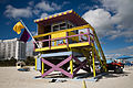 Miami - Lifeguard tower and flags - 0497.jpg