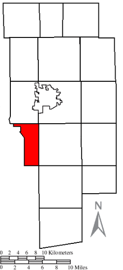 Location of Mifflin Township in Ashland County