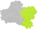 Mignères (Loiret) dans son Arrondissement.png