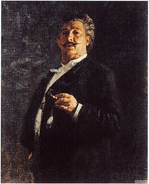 Mikhail Mikeshin - Portrait of M.O.Mikeshin by Ilya Repin (1888)