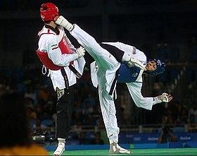 Combat de taekwondo WTF aux Jeux olympiques d'été de 2016 à Rio de Janeiro