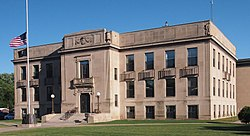 The Mille Lacs County Courthouse in Milaca