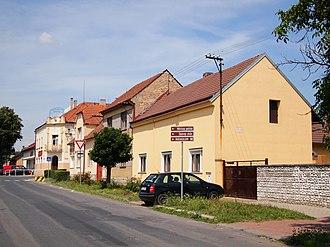 Milovice (Nymburk District) - Image: Milovice 5. května