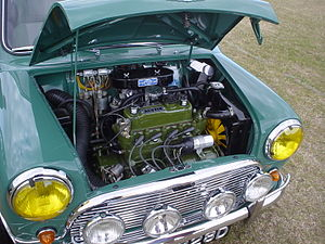 Transverse engine - Transversely mounted engine in Mini Cooper