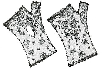 Chantilly lace - Mitts in Chantilly lace - MoMu-collection, Antwerp