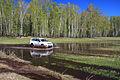 Mitsubishi Pajero Sport runs through spring puddle 11.JPG
