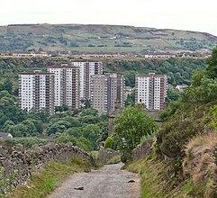 Mixenden Human settlement in England