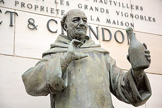 Dom Pérignon (monk) - Statue of Dom Pérignon at Moët et Chandon