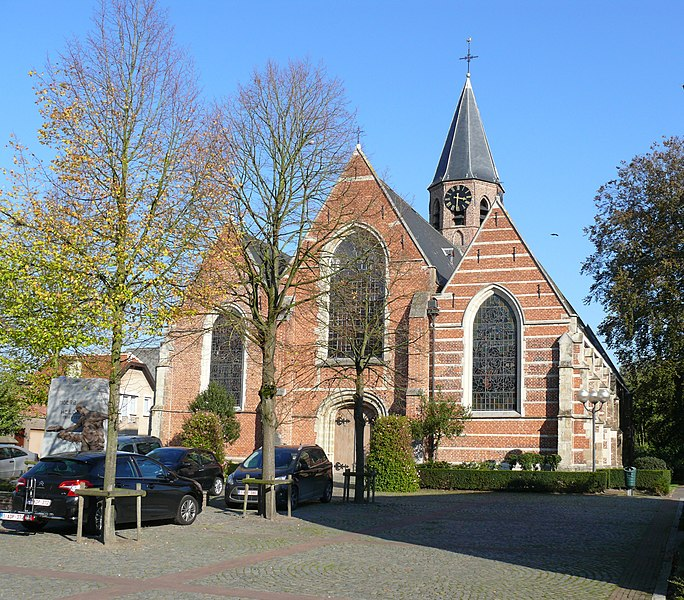 Parish Church of St Anthony's in  Moerbeke-Waas, probably dating to the 14th or 15th centuries.