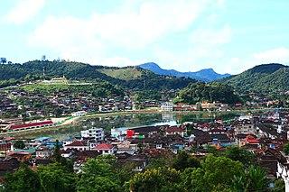 Mogok City in Shan State, Myanmar