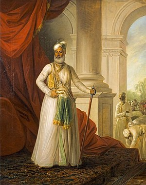 Muhammad Ali Khan Wallajah - Muhammed Ali Khan Walla-Jah, the Nawab of the Carnatic, portrait by George Willison