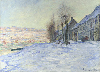 "Frank Rutter - Claude Monet. Lavacourt Under Snow, 1878–1881. Rutter's unsuccessful, too ""advanced"", choice for the National Gallery."