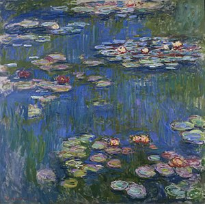 National Museum of Western Art - Claude Monet, Water Lilies, 1916, oil on canvas, 200.5 × 201 cm (78.9 × 79.1 in)