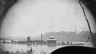 "USS Mahopac (1864) - Image: Monitor ""Mahopac"" on the Appomattox River, 1864"