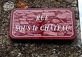 Montfleur - Rue Sous le Château (plaque).jpg