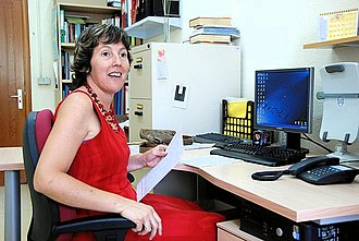 Women in computing - Computer scientist Montse Maritxalar of the University of the Basque Country in 2008.