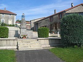 The war memorial in Cléry-le-Grand