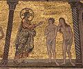Mosaici del battistero di firenze, storie della genesi 1250-1330 ca., 05 rimpovero di dio, attr. a gaddo gaddi, con restauri.JPG