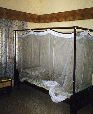 Mosquito net - Frame hung mosquito netting.