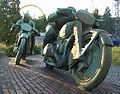 Motor cycle racers by Max Esser-Mutter Erde fec.jpg