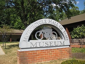 Motorcycle Hall of Fame - Image: Motorcycle Hall of Fame sign