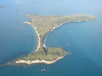 Motuihe Island - Image: Motuihe Island From Above West 01
