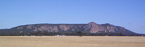 Wimmera - Mount Arapiles rises above the flat Wimmera plain.