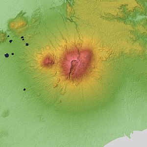Mount Banahaw - Relief Map