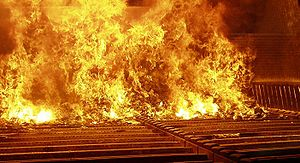 Municipal solid waste during combustion in a m...