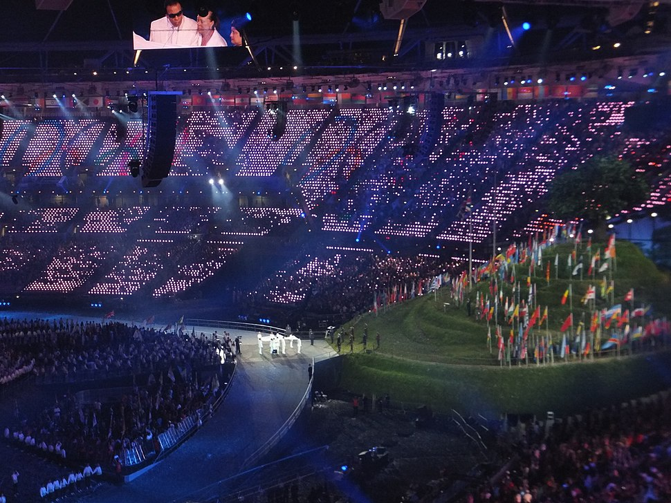 Muhammed Ali receives the Olympic Flag at the London 2012 Olympic Games Opening Ceremony