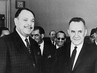 Ayub Khan (President of Pakistan) - President Ayub Khan meeting Soviet Premier Alexei Kosygin in 1960s.