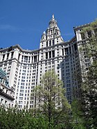 The Manhattan Municipal Building, home to many city agencies, is one of the largest government office buildings in the world.