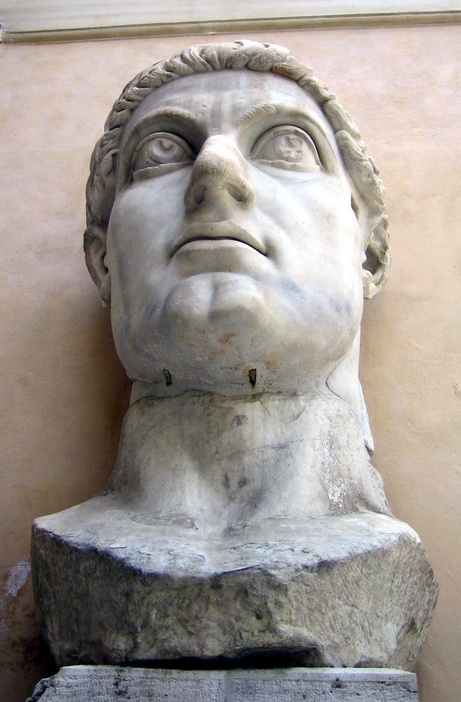Musei Capitolini-statua di Costantino-testa-antmoose