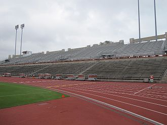 Mike A. Myers Stadium - UT's Myers Track Stadium Grandstand