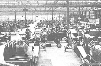 National Aircraft Factory No. 2 - The erecting area of the National Aircraft Factory No.2 in late 1918 with de Havilland DH.9s under assembly