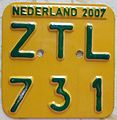 NETHERLANDS 2007 -MOPED LICENSE PLATE - Flickr - woody1778a.jpg