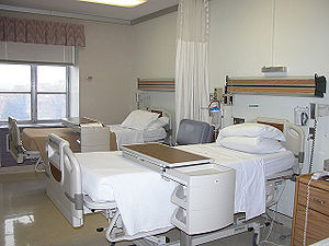 Psychiatry - NIMH federal agency patient room for Psychiatric research, Maryland, USA.