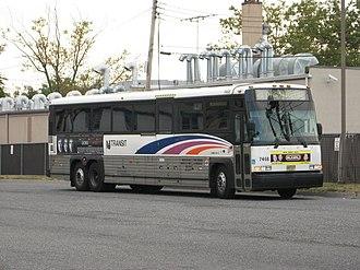 NJ Transit bus fleet - Image: NJ Transit MCI D4500 7468