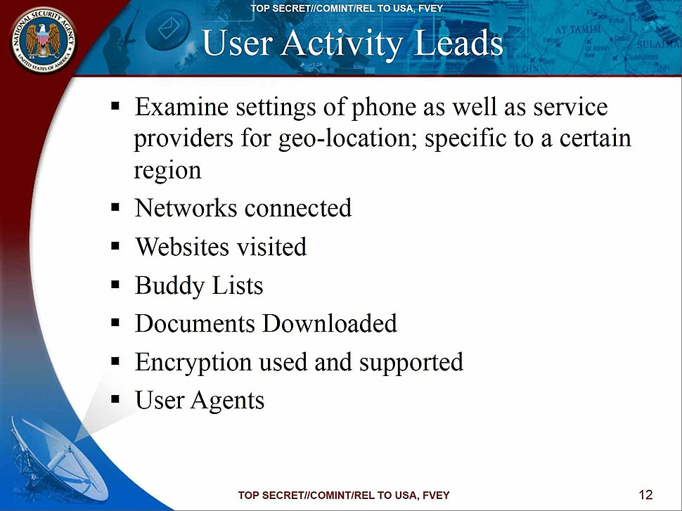 NSA User Activity Leads