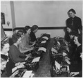 NYA-Illinois-Vocational Guidance-brush-up classes to improve typing ability, group picture of woman at typewriters - NARA - 197156.tif
