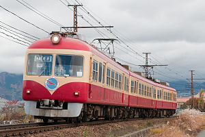 Nagano Electric Railway 2000 series - Set D, September 2007